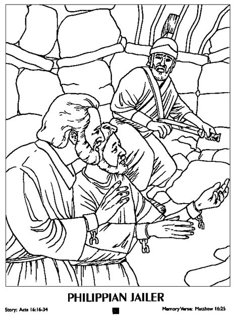paul and silas in jail coloring page coloring home