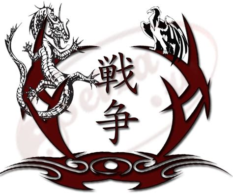 tribal war tattoos kanji war designs