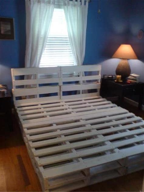 bed frame from pallets how to make a diy pallet bed frame pallets designs