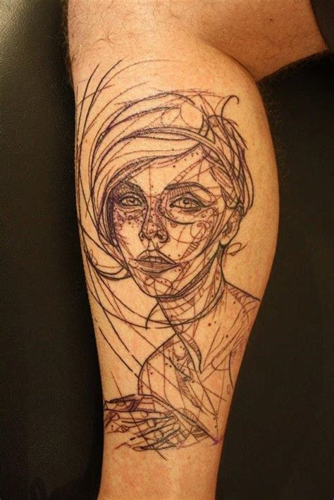 tattoo geometric face robot woman tattoo 171 inked inspiration a collection of