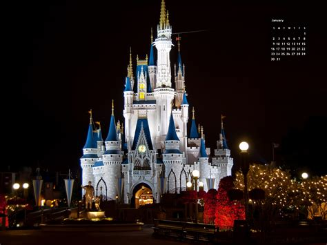 January Disney World Calendar (Picture This!)