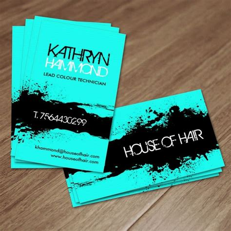 hair business cards templates salon business cards