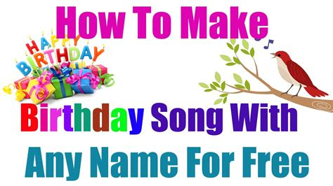 hindi how to make birthday song with any name for free