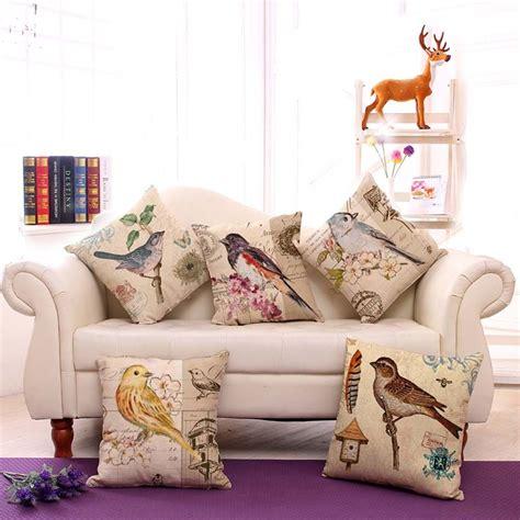 bird home decor vintage home decor bird cotton linen pillow sofa