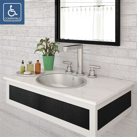 Buy Bathroom Sinks by Decolav Taji 1300 Simply Stainless Collection Oval