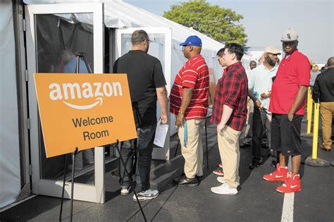 amazon jobs amazon recruiting event in romeoville draws hundreds of