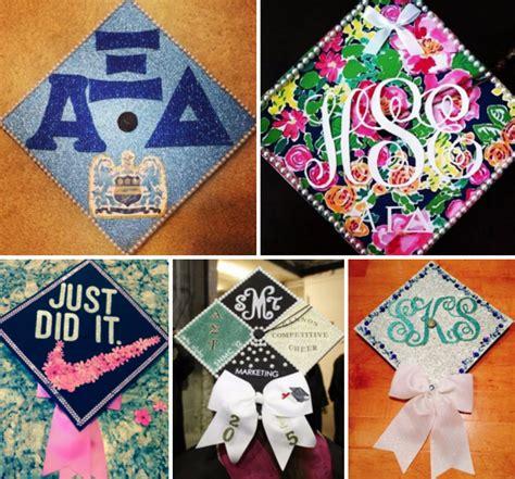 how to decorate graduation cap how to decorate a sorority grad cap