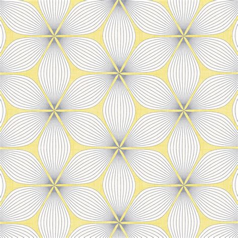 retro patterned roller blind golden yellow grey white retro geometric patterned