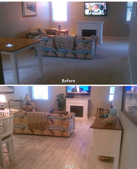 before after carpet to hardwood living room 1   Ability