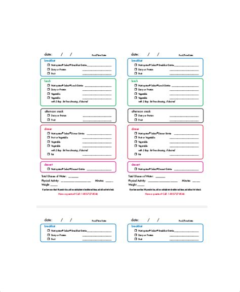 daily menu planner template daily menu planner template 6 free pdf documents
