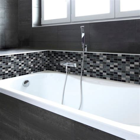 decorative bathroom tile borders myka silver and black mosaic tiles direct tile warehouse