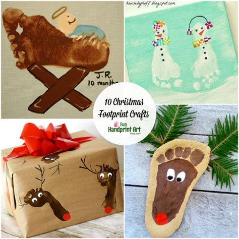 10 creative footprint christmas crafts fun handprint art