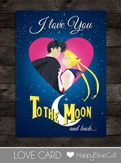 to the moon and back valentines day card template 1000 images about wedding sailor moon wars
