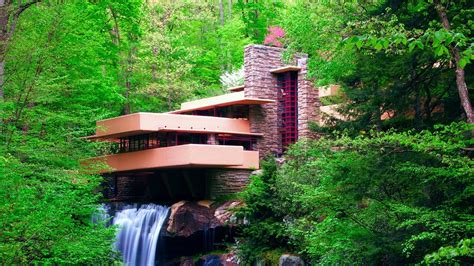 Fallingwater by Nature Landscape Waterfall Long Exposure Frank Lloyd