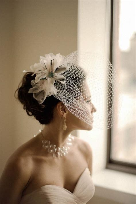 Vintage Wedding Hair With Birdcage Veil by Vintage Wedding Hairstyles With Birdcage Veil Www Imgkid