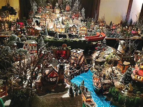 minuiture christmas towns celebrate the holidays with miniature memories