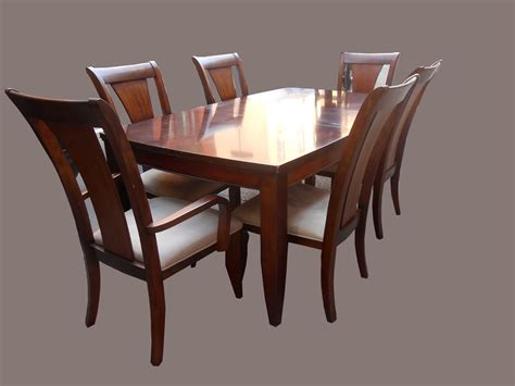 Uhuru Furniture Collectibles Mahogany Dining Table W 6 Dining Table And 6 Chairs