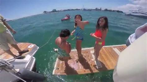 miami vice boat party peanut island raft up in palm beach youtube