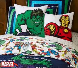 Marvel Heroes Bedding Sets Marvel Quilted Bedding Pottery Barn