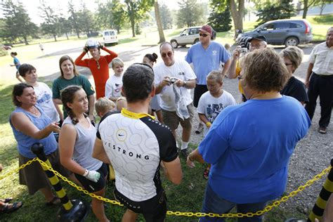 Lance Armstrong Hosts Backyard Bash by Lance Armstrong In Carroll On The Ragbrai Route Ragbrai