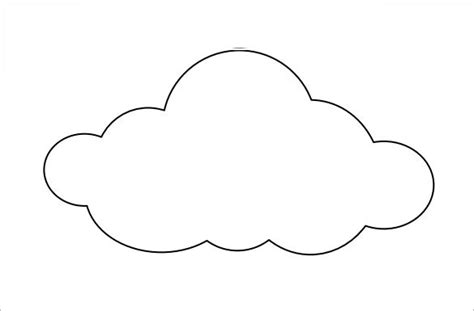 Cloud Template 9 Printable Cloud Templates Free Free