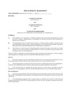 partnership agreement ontario template ontario sweat equity agreement forms and business