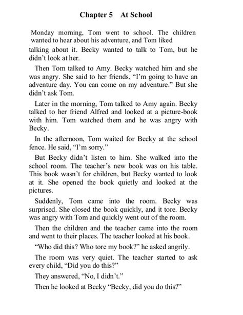 The adventures of tom sawyer chapter 5-6