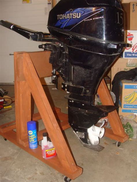 how to build an outboard motor stand diy outboard motor stand pictures and plans boat stuff