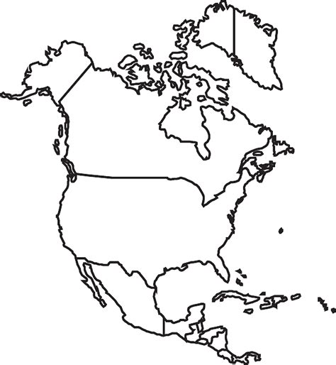 usa and canada map black and white free vector graphic map america canada usa