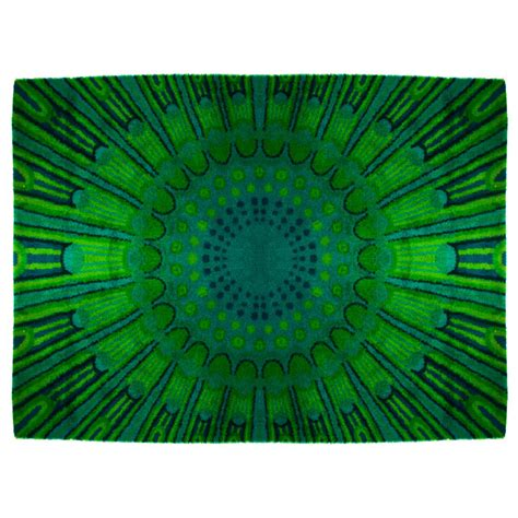 Green Rugs For Sale Large Muti Green Mod Rya Rug For Sale Antiques