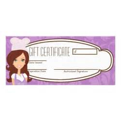 How To Make Your Own Wedding Programs 4 Quot X9 Quot Gift Certificate Brunette Baker Cup Cakes Zazzle