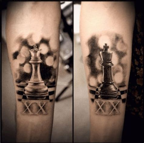 tattoo couple echec 17 id 233 es 224 propos de chess piece tattoo sur pinterest