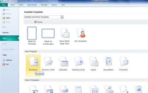 cara membuat brosur menggunakan microsoft publisher membuat brosur dengan microsoft office publisher 2010