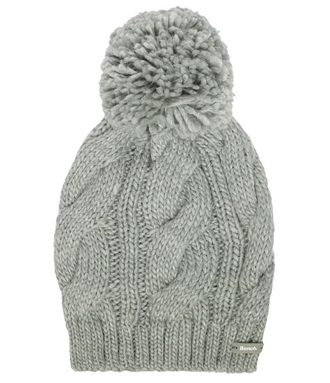 bench beanie hat bench lavendah b bobble beanie hat in gray grey lyst