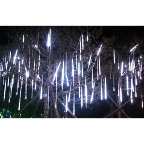 meteor melting icicle lights snowing effect 8 tube 60cm