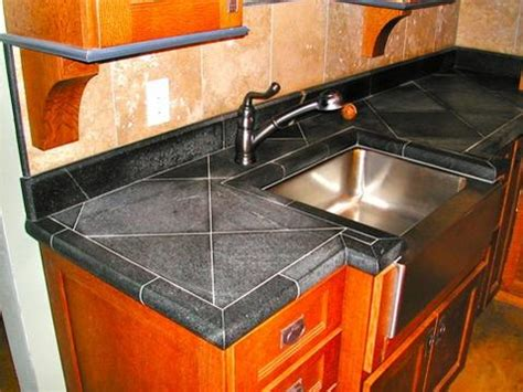 Cheap Kitchen Countertop Ideas Tile Countertops Granite Tile Countertops Practical And Cost Effective This Is Seriously