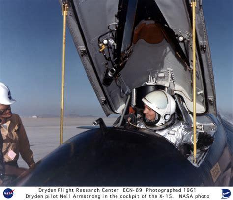 X-15 ECN-89: Pilot Neil Armstrong in the X-15 #1 cockpit X 15 Cockpit