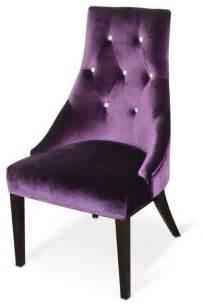 Purple Desk Chair Cushion Aa031 Purple Velour Dining Chair Armani Xavira Collection