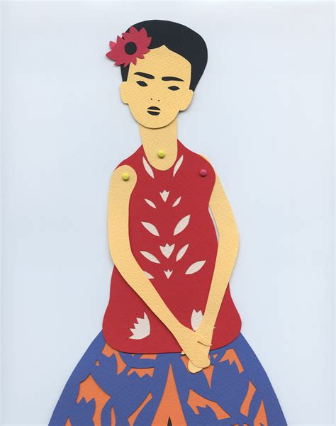 introducing a diy frida kahlo paper doll all about papercutting