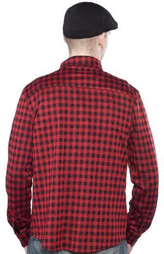 Id 1245 Studs Plaid Shirt kustom kreeps plaid flannel button up sleeve guys