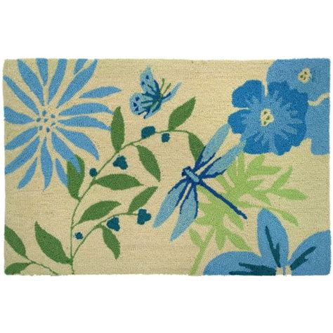 Dragonfly Indoor Outdoor Rug Blue Butterfly Dragonfly Indoor Doormat Outdoor Rug 22 X 34 By Homefires Rugs