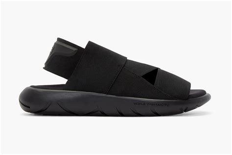 y 3 sandals y 3 reveal all black qasa sandals pause s