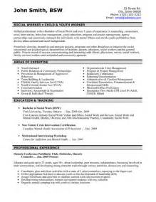 social worker resume sle template