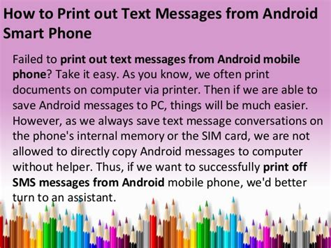 print text messages android how to print out text messages from android smart phone