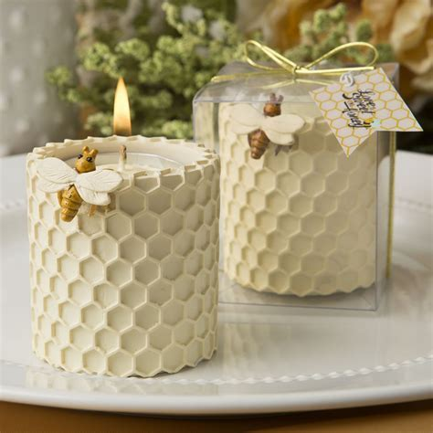 Honey Comb Design Bees Candles, Candle Favours at Favour This