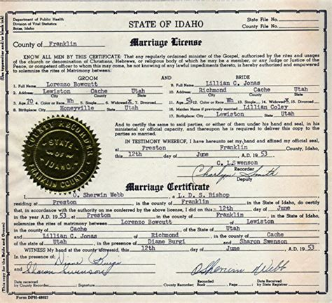 Search Marriage License Records Step By Step Idaho Research 1911 Present Genealogy
