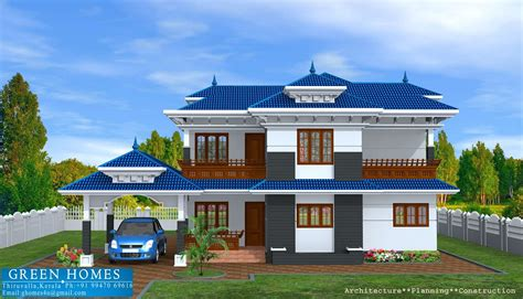 green homes kerala model home in 2400 sq