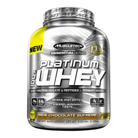 Whey Muscletech Muscletech Essential Series Platinum 100 Whey 5lb