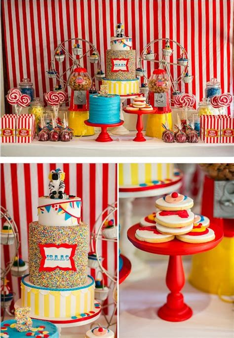 Carnival Theme Decorations by Big Top Circus Carnival Themed Birthday Of