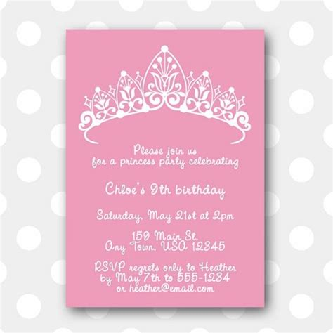 princess invitations free template printable birthday invitation princess by